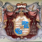Wappen der Passauer Bischöfe auf der Burg Pürnstein